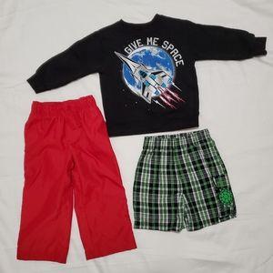 Kids Boys 2T Sweatshirt, Pants and Shorts